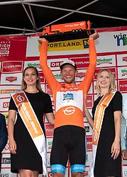 08.07.2019, Wiener Neustadt, AUT, Ö-Tour, Österreich Radrundfahrt, 2. Etappe, von Zwettl nach Wiener Neustadt (176,9 km), im Bild Matthias Krizek (AUT, Team Felbermayr Simplon Wels) im Trkot des beste Österreicher // Matthias Krizek of Austria (Team Felbermayr Simplon Wels) in the jesey for the best Austrian rider during 2nd stage from Zwettl to Wiener Neustadt (176,9 km) of the 2019 Tour of Austria. Wiener Neustadt, Austria on 2019/07/08. EXPA Pictures © 2019, PhotoCredit: EXPA/ Reinhard Eisenbauer
