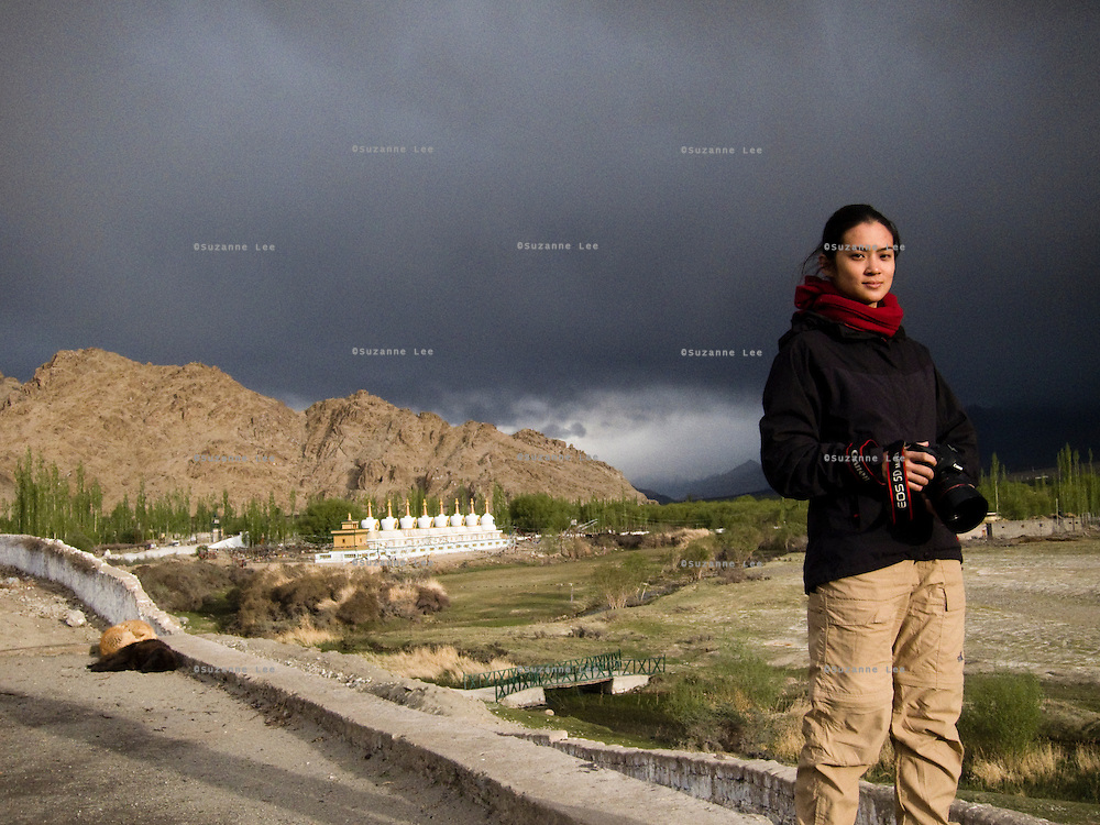 Portrait of Suzanne Lee, a documentary photographer born in Malaysia, based in India. Photo by Sanjit Das