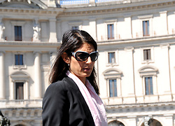 May 27, 2017 - Rome, Rome, Italy - The mayor of Rome Virginia Raggi attends funerals of the designer Laura Biagiotti in the church of Santa Maria degli Angeli in Rome. Many VIPs, designers and characters from the show world. Presented by the Mayor of Rome, Virginia Raggi, the stylists of Santo Versace and Renato Balestra, Beppe Modenese (Honorary Chairman of the National Chamber of Italian Fashion), Mara Venier, Anna and Silvia Fendi (Credit Image: © Patrizia Cortellessa/Pacific Press via ZUMA Wire)