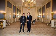 Koning Willem-Alexander ontvangt Daniel Gunther, voorzitter van de Duitse Bondsraad in Paleis Nooreinde<br /> <br /> King Willem-Alexander receives Daniel Gunther, chairman of the German Federal Council in palace Noordeinde