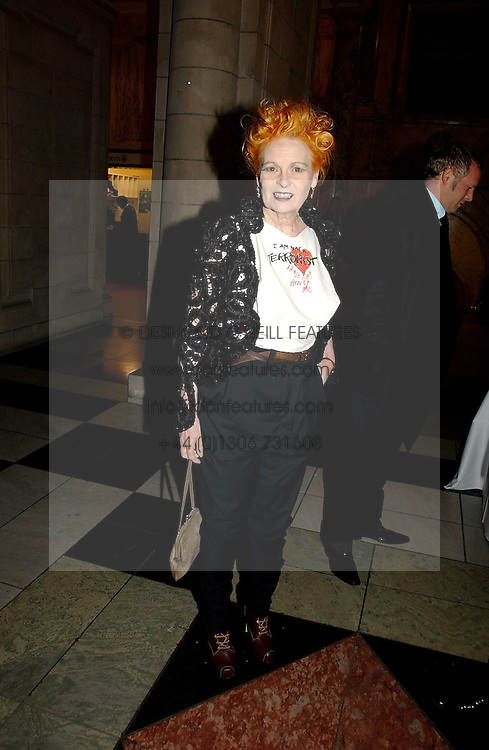 VIVIENNE WESTWOOD at the British Fashion Awards 2006 sponsored by Swarovski held at the V&A Museum, Cromwell Road, London SW7 on 2nd November 2006.<br />