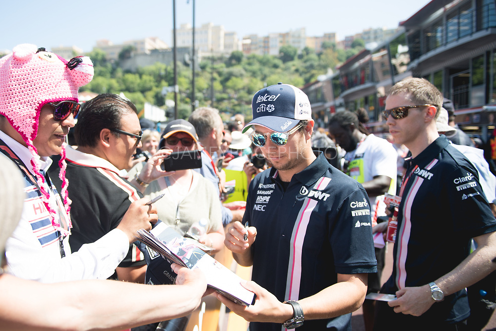May 23-27, 2018: Monaco Grand Prix. Sergio Perez (MEX), Sahara Force India, VJM11
