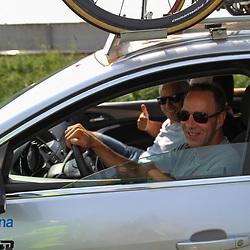 Boels Rental Ladiestour 2013 Papendrecht Danny Stam had zijn zesdaagse maatje Robert Slippens op bezoek