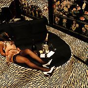 Huize Ria Adam Overtoom 558 Amsterdam, prostituee wachtend op een klant