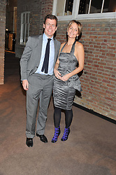 PADDY BYNG and SAFFRON ALDRIDGE at a dinner hosted by Asprey for The Woodland Trust in support of the Jubilee Woods Project, held at Asprey, 167 New Bond Street, London on 22nd November 2012.