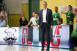 Zoran Martic, head coach of KK Petrol Olimpija Ljubljana during basketball match between KK Krka Novo mesto and  KK Petrol Olimpija in 2nd Final game of Liga Nova KBM za prvaka 2017/18, on May 22, 2018 in Sports hall Leona Stuklja, Novo mesto, Slovenia. Photo by Urban Urbanc / Sportida