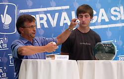 Andrej Zalar and Andraz Sporar at PrvaLiga draw before new football season 2011/2012 in Slovenia, on June 23, 2011, in Hotel Kokra, Brdo pri Kranju, Slovenia. (Photo by Vid Ponikvar / Sportida)