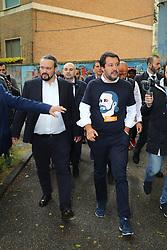 ALAN FABBRI E SALVINI<br /> MATTEO SALVINI MINISTRO DELL'INTERNO E LEADER LEGA A FERRARA PER SOSTENERE LA CANDIDATURA A SINDACO DI ALAN FABBRI