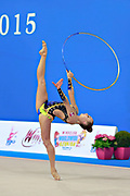 Bezzoubenko Patricia during qualifying at hoop in Pesaro World Cup 10 April 2015.<br />