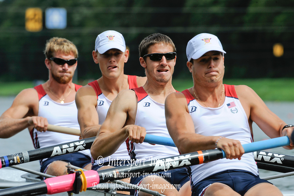 Amsterdam, NETHERLANDS, USA BM4-, 2011 FISA U23 World Rowing Championships, Friday, 22/07/2011 [Mandatory credit:  Intersport Images]