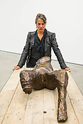 Tracey Emin with Every part of me feeels you - The Last Great Adventure is You - a new exhibition at the White Cube gallery.  It is her first at the London gallery in five years and features: bronze sculptures - including In Grotto (2014), Bird (2014) and a series of bronze bas relief plaques that portray figures; gouaches; paintings; large-scale embroideries; and neon works - including one of the exhibition title. The exhibition 'chronicles the contemplative nature of work'.