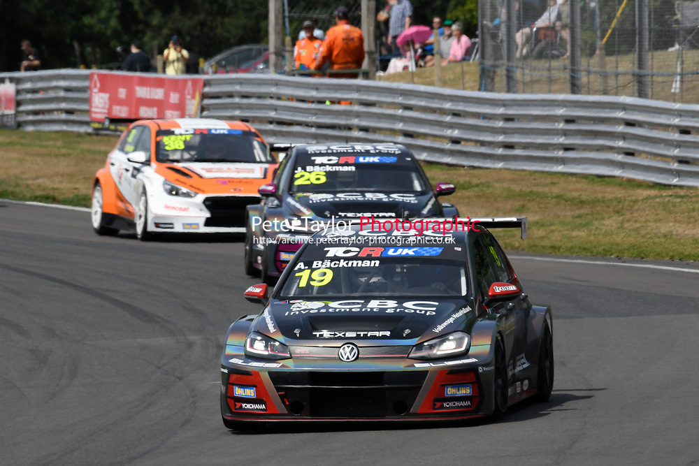 #19 Andreas BACKMAN (SWE) WestCoast Racing Volkswagen Golf GTI TCR  during TCR UK Championship Race One as part of the BRSCC TCR UK Race Day Oulton Park  at Oulton Park, Little Budworth, Cheshire, United Kingdom. August 04 2018. World Copyright Peter Taylor/PSP. Copy of publication required for printed pictures.
