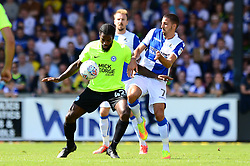 Liam Sercombe of Bristol Rovers challenges for the ball with Anthony Grant of Peterborough United - Mandatory by-line: Dougie Allward/JMP - 12/08/2017 - FOOTBALL - Memorial Stadium - Bristol, England - Bristol Rovers v Peterborough United - Sky Bet League One