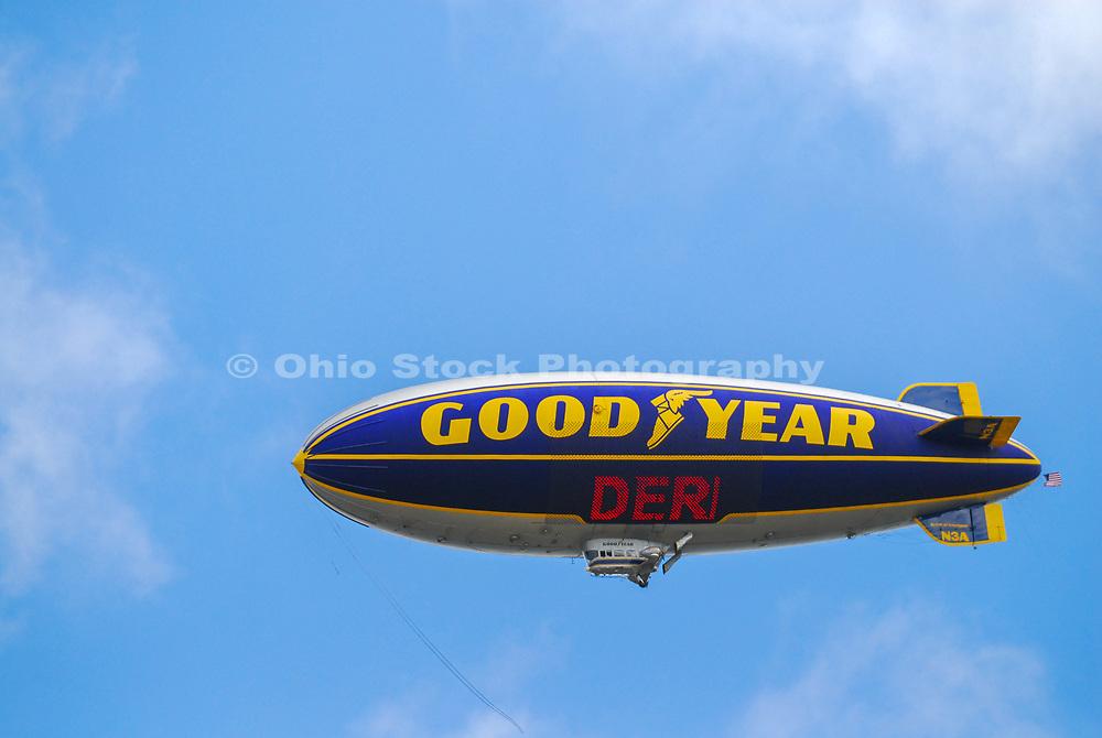 The Goodyear Blimp in Akron, Ohio.