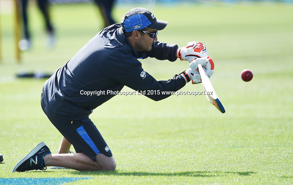 NZ Coach Mike Hesson on day 2 of the 2nd cricket test match between New Zealand Black Caps and Sri Lanka at Seddon Park in Hamilton, New Zealand. Saturday 19 December 2015. Copyright photo: Andrew Cornaga / www.photosport.nz