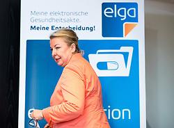 27.02.2018, Sozialministerium, Wien, AUT, BMSGK, Pressegespräch anlässlich des Startschusses für e-Medikation und weitere e-Services, im Bild Gesundheits- und Frauenministerin, Ministerin für Arbeit Soziales und Konsumentenschutz Beate Hartinger-Klein (FPÖ) // Austrian Minister for Health and Women's Affairs Beate Hartinger-Klein during media conference in Vienna, Austria on 2018/02/27, EXPA Pictures © 2018, PhotoCredit: EXPA/ Michael Gruber