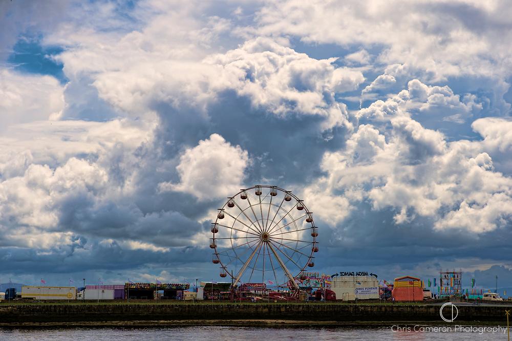 Ferris wheel at a fair ground in Galway, Ireland. 4/7/2012