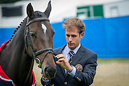 William Oakden (GBR) & Greystone Midnight Melody - First Horse Inspection - Longines FEI European Eventing Championships - Blair Castle, Scotland - 09 September 2015