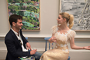 XAVIER DE LA ROCHE; ANYA TAYLOR-JOY, ;Royal Academy Summer Exhibition party. Burlington House. Piccadilly. London. 6 June 2018