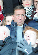 Northampton Town new manager Justin Edinburgh watches from the stands during the EFL Sky Bet League 1 match between Northampton Town and Scunthorpe United at Sixfields Stadium, Northampton, England on 14 January 2017. Photo by Andy Handley.