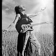 Portrait of guitarist Sue DaBaco.