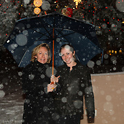Holly Matt and Evin Grody in the snow at the 2007 USEA Convention and awards dinner in Colorado Springs, CO, USA