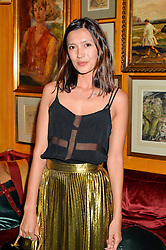 HIKARI YOKOYAMA at an exclusive performance by Mark Ronson at Annabel's, Berkeley Square, London on 2nd March 2016.