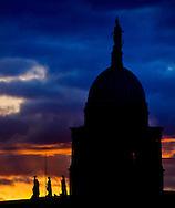 13/5/14 The sun sets over the Customs House in Dublin Pic: Marc O'Sullivan