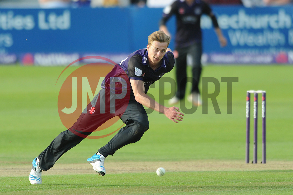 Craig Miles of Gloucestershire chases after the ball - Photo mandatory by-line: Dougie Allward/JMP - Mobile: 07966 386802 - 19/06/2015 - SPORT - Cricket - Bristol - County Ground - Gloucestershire v Somerset - Natwest T20 Blast