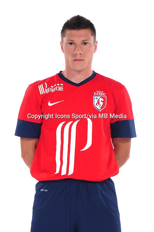 Jonathan DELAPLACE - 10.09.2013 - Photo officielle - Lille - Ligue 1 <br /> Photo :  Icon Sport