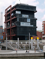 Modern office of China Shipping constructed at Sandtorhafen in new Hafencity property development in Hamburg Germany