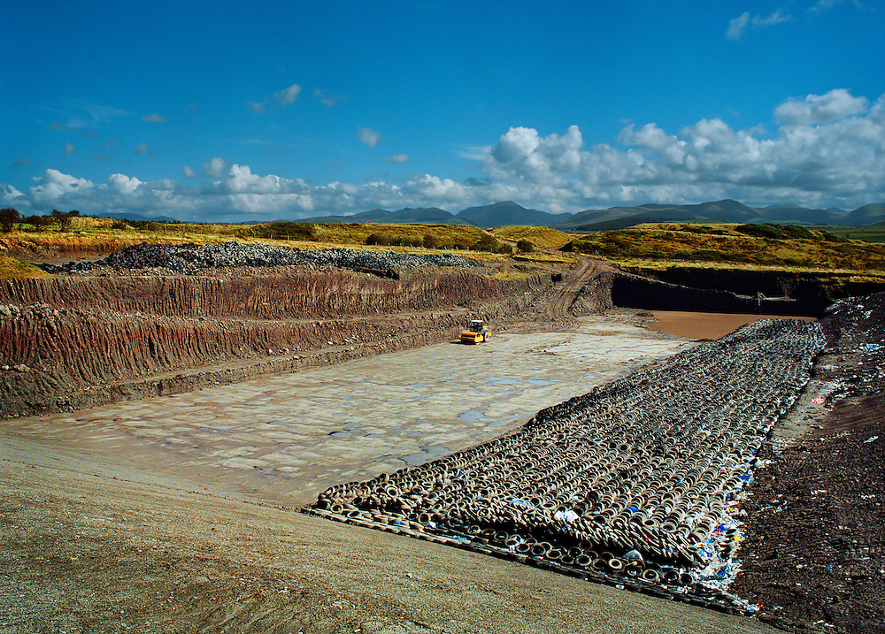 New landfill cell near Distington.<br /> <br /> Landfill sites may contribute to the build up of greenhouse gases, thought to cause global warming.