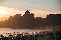 View of Morro Dois Irmãos -  Two Brothers Mountain - overlooking Ipanema and Leblon beaches, in Rio de Janeiro, Brazil, on Feb. 2, 2013.