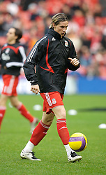 LIVERPOOL, ENGLAND - Sunday, December 2, 2007: Liverpool's Fernando Torres before the Premiership match against Bolton Wanderers at Anfield. (Photo by David Rawcliffe/Propaganda)