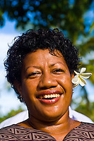 Fijian woman, Vomo Island Resort, Fiji Islands