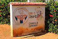 Revolutionary sign in Playas Coloradas, Granma, Cuba.