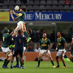 Franco Mostert of South Africa during the 2nd Castle Lager Incoming Series Test match between South Africa and France at Growthpoint Kings Park on June 17, 2017 in Durban, South Africa. (Photo by Steve Haag Sports)