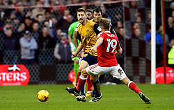 Jens Hegeler of Bristol City passes the ball past Jamie Ward of Nottingham Forest - Mandatory by-line: Robbie Stephenson/JMP - 21/01/2017 - FOOTBALL - The City Ground - Nottingham, England - Nottingham Forest v Bristol City - Sky Bet Championship