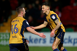 Jamie Paterson of Bristol City celebrates after scoring his sides first goal  - Mandatory by-line: Matt McNulty/JMP - 17/01/2017 - FOOTBALL - Highbury Stadium - Fleetwood,  - Fleetwood Town v Bristol City - Emirates FA Cup Third Round Replay