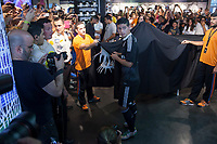Real´s James Rodriguez during the presentation of the Real Madrid's new Champions League kit at the Santiago Bernabeu stadium in Madrid, Spain. May 26, 2013. (ALTERPHOTOS/Victor Blanco)