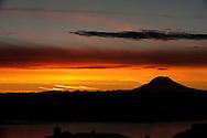 A beautiful sunrise over Mt. Ranier