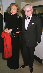 LORD & LADY STEVENS OF LUDGATE at a dinner in London on 30th November 1998.MMK 64