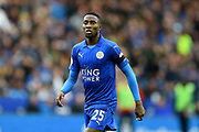 Leicester City midfielder Wilfred Ndidi (25) during the Premier League match between Leicester City and Stoke City at the King Power Stadium, Leicester, England on 1 April 2017. Photo by Jon Hobley.