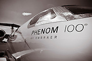 An Embraer Phenom 100 on the ramp at Briscoe Field (LZU) in Lawrenceville, Ga.  Shot during the 2010 Parade of Planes.