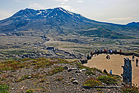 Mount St Helens, Washington State, USA, which last erupted in May, 1980. The rocks and uprooted plants from the eruption have deliberately  left where they landed to illustrate the force of the volcanic action.This photo taken from the viewpoint at the Johnston Ridge Observatory which is best for viewing the large crater left after the 1980 eruption. 200809020909, volcano, lava.<br /> <br /> Copyright Image from Victor Patterson, Belfast, UK<br /> <br /> t: +44 28 9066 1296 (from Rep of Ireland 048 9066 1296)<br /> m: +44 7802 353836<br /> e: victorpattersonbelfast@gmail.com<br /> <br /> www.images4media.com the new website which will ultimately replace  www.victorpatterson.com<br /> <br /> Please see my full Terms and Conditions of Use at https://www.victorpatterson.com/page2<br /> It is IMPORTANT that you familiarise yourself with them.<br /> <br /> Images used on the Internet incur an additional cost and must be visibly watermarked i.e. © Victor Patterson or that of the named photographer within the body of the image. The online image must retain all the original metadata. Any changes must be agreed in writing.<br /> <br /> This image is only available for the use of the download recipient i.e. television station, newspaper, magazine, book publisher, etc, and must not be passed on to a third party. It is also downloaded on condition that each and every usage is notified within 7 days to victorpattersonbelfast@gmail.com.<br /> <br /> The right of Victor Patterson (or the named photographer) to be identified as the author is asserted in accordance with The Copyright Designs And Patents Act (1988). All moral rights are asserted.