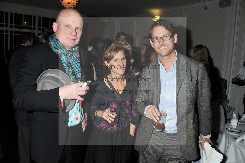 Left to right, TOM HALIFAX, MARK & ZIVI SAINSBURY at a dinner in aid of the charity Save The Rhino held at ZSL London Zoo, Regents Park, London NW1 on 16th November 2011.