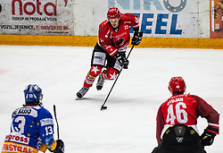 23# Urban Sodja of Jesenice during ice hockey match between HK SIJ Acroni Jesenice and Asiago Hockey in Round #3 of Alps Hockey League 2018/19 , on September 22, 2018 in Podmezakla hall , Jesenice, Slovenia. Photo by Urban Meglic / Sportida