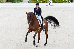 Jessica Michel, (FRA), Riwera de Hus - Grand Prix Team Competition Dressage - Alltech FEI World Equestrian Games™ 2014 - Normandy, France.<br /> © Hippo Foto Team - Leanjo de Koster<br /> 25/06/14