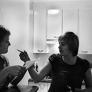 Jen (left) and Jane at home in Sydney, Australia, November 2007. Photo by Tim Clayton..