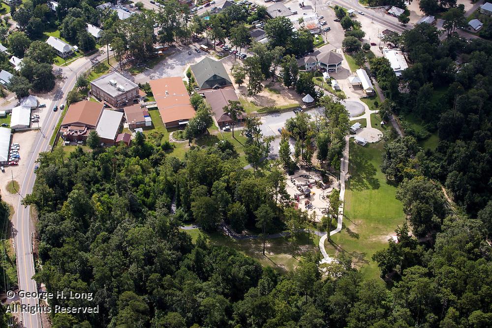 aerial view of Abita Springs, Louisiana